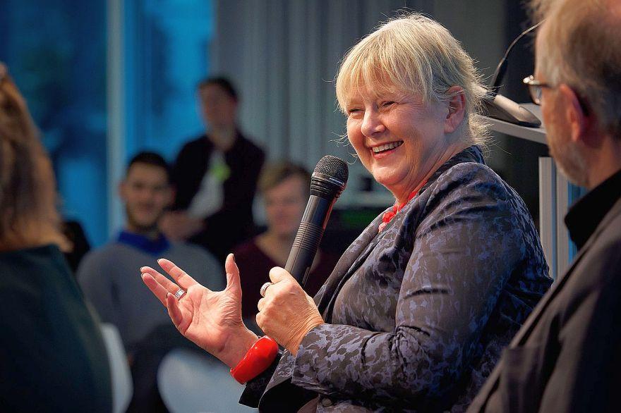 Die frühere Stasi-Unterlagen-Beauftragte Marianne Birthler bei einer Veranstaltung am 23 September 2015