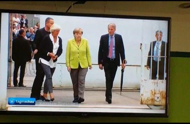 Am 11. Augst 2017 besuchte Bundeskanzlerin Angela Merkel die Gedenkstätte Berlin-Hohenschönhausen